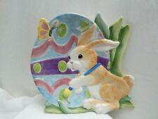 Fitz And Floyd Essentials Painting Easter Eggs Ceramic Canape Plate