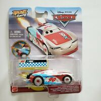 CARS Disney Pixar Diecast XRS Rocket Racing PAUL CONREV with Blast Wall