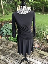 Chaps Dress Fitted Polyester Elastene Size Small Black Long sleeve NWT Stretch