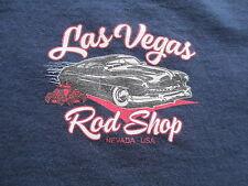 Las Vegas Rod Shop Car Nevada USA Navy Blue White Red T Shirt S Small M Medium