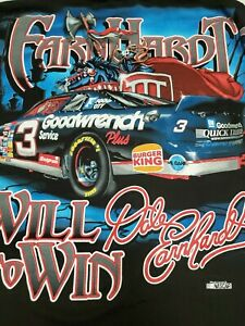 Vintage Dale Earnhardt Quest Spirit Within All Over Print T-Shirt Sz M Chase '98
