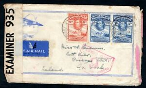 Gold Coast - 1943 KGVI Airmail Censor Cover to Ireland