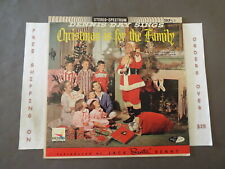 DENNIS DAY CHRISTMAS IS FOR THE FAMILY JACK BENNY LP MID CENTURY COVER