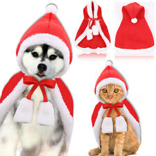 Dog clothing warm cat accessories pet hoodie cat Christmas Little Red Hat Cape