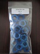 An6289-D6 Aluminum Alloy Blue Nut Locknut Tube Fitting 9/16-18 - Lot of 25