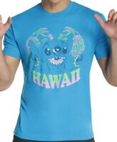Disney Lilo and Stitch Hawaii Blue Men's T-Shirt New