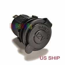 Waterproof 12V Car Cigarette Lighter Socket USB Charger Power Adapter Outlet  SM