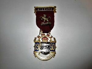Royal Masonic Benevolent Institution Steward Jewel 1950