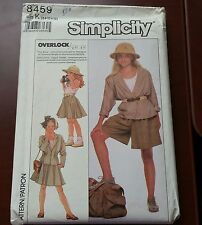 Simplicity 8459 Girls Shorts/Skirt/Top & Unlined Jacket Sz 10 to 14 UNCUT
