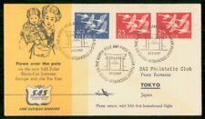 Mayfairstamps Sweden Flight 1957 to Tokyo Via North Pole Sas Cover wwe_73269