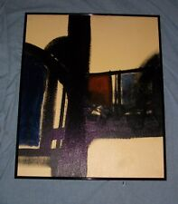 EUGENE SWEARINGER OIL ON BOARD PAINTING MID CENTURY MODERN RETRO HOME DECOR VTG