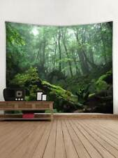 Foggy Forest Tapestry Tree Wall Hanging Print Bedspread Tapestries Home Decor