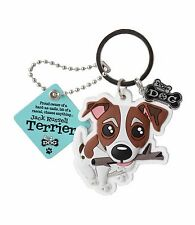 Jack Russell Terrier Keyring Gift/Present Dog Key Ring Bag Charm