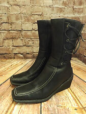 Ladies Odean Black Zip Fastening Laced Back Mid Height Ankle Boots UK 3 EU 36