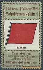 Reklamemarke Düsseldorf-Drogerie Kurt Glauert, Flagge: Sansibar (#25900)