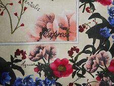 """USA Silk Scarf Latin Botanical Garden Hyacintus Orientalis Poppies Large 34"""""""