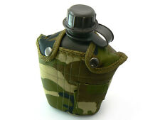 G.I. Style PLASTIC Hiking/Camping CANTEEN/water bottle with CAMO COVER (FP13624)