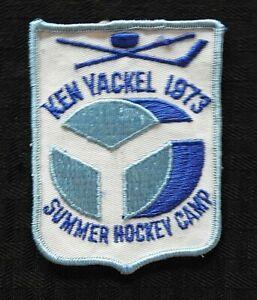 "1973 ""KEN YACKEL SUMMER HOCKEY CAMP SCHOOL"" ST. PAUL MINNEAPOLIS MN PATCH RARE"