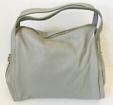 Brand New* 100% Genuine Leather, Handmade Tote, Purse, Bag--Light Gray