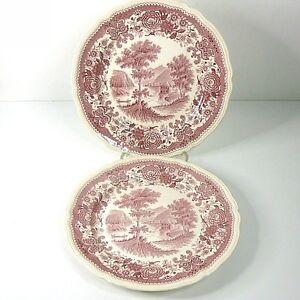 2 x Villeroy & Boch Kuchenteller Burgenland rot /rose Teller 19 cm