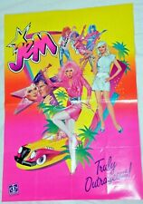 Jem and the Holograms Original Poster 14' X 20' 1985 first edition,