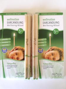 BIOSUN EAR CANDLES - Ten Pairs, Lemongrass Eucalyptus Lime, Made in Germany