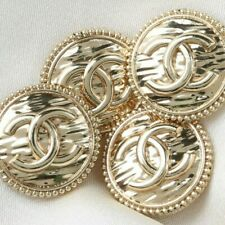 4pc Chanel Buttons 💝 CC Gold 19mm Vintage Style Unstamped 4 Buttons AUTH!!!
