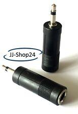Audio Adapter Klinke Klinkenstecker 3,5mm auf 6,5mm weiblich Stereo Buchse NEU