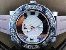 Mens Techno Com KC Joe Rodeo Master Floating Genuine Blue Diamond Watch 2.7 Ct