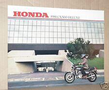 1981 Honda CX500 Deluxe Motorcycle Sales Brochure - Literature