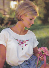 Crochet Pattern ~ Rosebuds & Beads T-Shirt ~ Instructions
