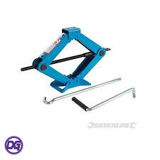 1 Tonne Scissor Jack, Sturdy Steel Construction with Folding Handle