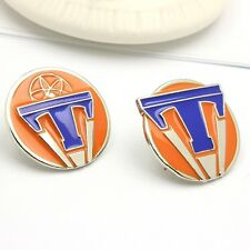 1 Pair Tomorrowland World's Fair Movie Emblem Badge Exclusive Pin Props