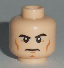 HEAD MF025 Lego Male Determined Cheek Lines Chin Dimple Red Laser Eyes Lt Flesh