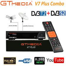 Digital Satellite Receiver FTA DVB T2+S2 Combo 1080P H.265 Decoder MPEG4 Tuner