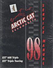 1998 ARCTIC CAT SNOWMOBILE EXT 600 TRIPLE,/TRIPLE TOURING SERVICE  MANUAL (088)
