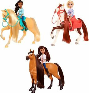 DREAMWORKS SPIRIT RIDING FREE SMALL DOLL & CLASSIC HORSE-LUCKY ABIGAIL PRUDENCE