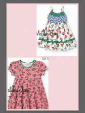 Matilda Jane Cherry Pie & Strawberry Crumble Dresses Sz 6 Lot