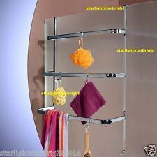 Towel Rack Bathroom Storage Organiser Caddy Holder Hanger Laundry Shower Screen