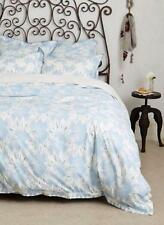 NEW ANTHROPOLOGIE 5PC Honeyed Fleur Blue King Duvet Cover + Shams 2 King 2 Euro