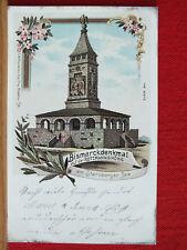 Farblitho - Bismarckdenkmal a. d. Rottmannshöhe - gel 1900 - Starnberger See  m