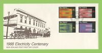New Zealand 1988 Electricty Centenary set First Day Cover