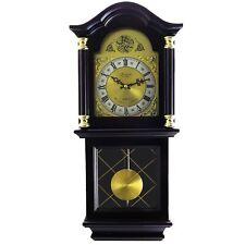 "BEDFORD 26""MAHOGANY CHERRY OAK FINISH GRANDFATHER WALL CLOCK with PENDULUM&CHIME"