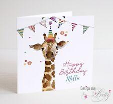 PERSONALISED GIRAFFE Birthday Card Daughter Granddaughter Sister