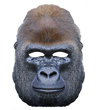 Gorilla Animal 2D Card Party Face Mask Fancy Dress Up Ape Zoo Exotic Theme