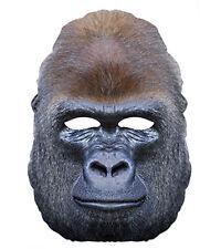 gorilla animale 2D MASCHERA DI CARTONE feste costume Travestimento Scimmia Zoo