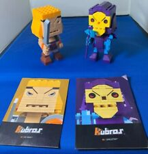 Mega Bloks Kubros Masters of The Universe,#1 He-Man & #2 Skeletor MOTU