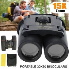 30 x 60 Binoculars Compact Foldable Roof Prism Pocket With Carry Case Camping