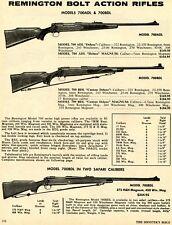 1972 Print Ad of Remington Model 700ADL & 700BDL Bolt Action Rifle