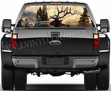 HUNTING -Pick-Up Truck Perforated Rear Windows Graphic Decal,  Decal